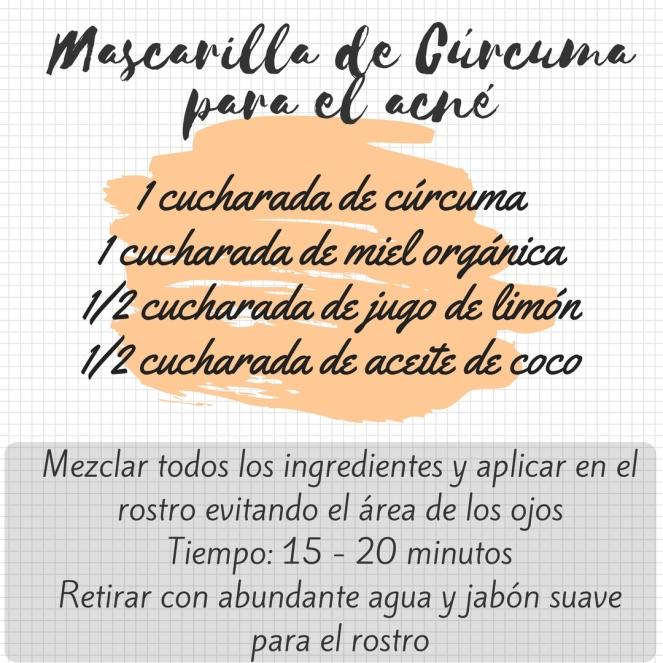 Mascarilla de Cúrcuma para el acné (2)